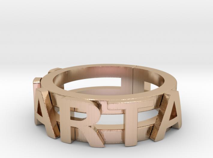 Name Ring (customizable) 3d printed