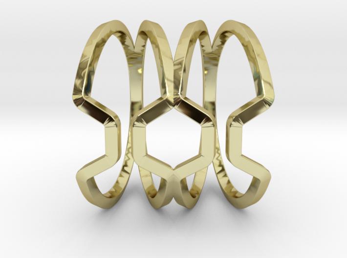 Big Honey, Ring US size 8, d=18,2mm 3d printed