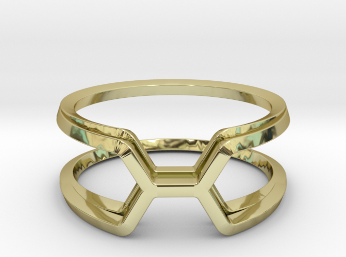 Honey Kissing Duo, Ring US size 8, d=18,2mm 3d printed