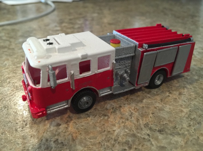 Philadelphia City Pumper 1/64 3d printed