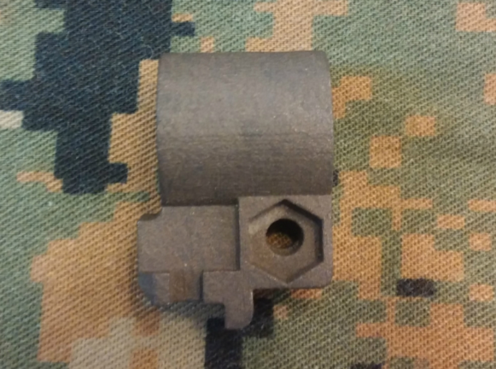 ".625"" ID-Clamp on M16 Bayonet lug 3d printed matte black steel"