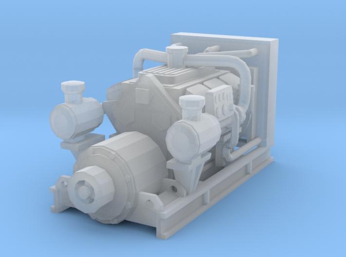 1/87th Diesel Electric Generator 3d printed
