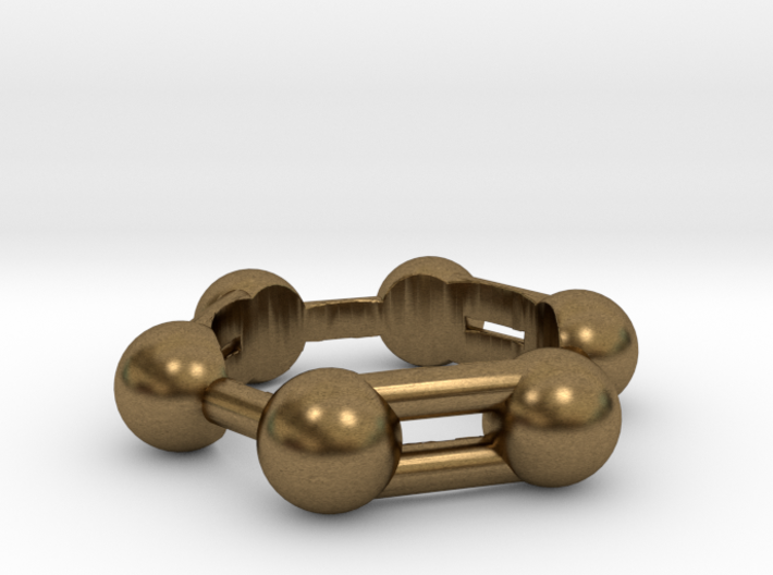 Benzene Ring Molecule 3d printed