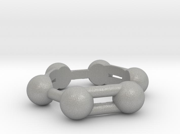 Benzene Ring Molecule 3d printed