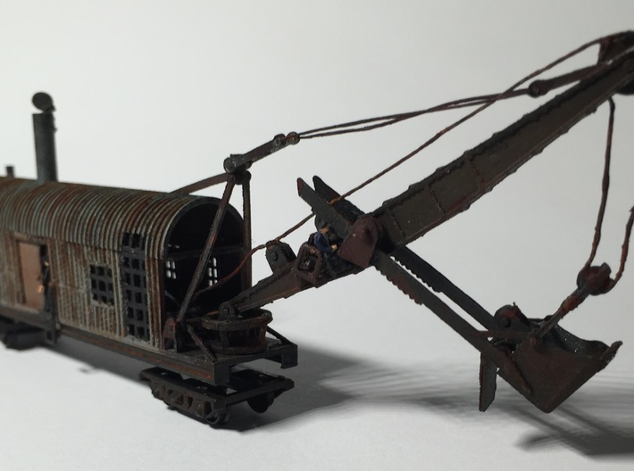 Revised 1914 Steam Shovel Z Scale 3d printed one completed by Pawel!