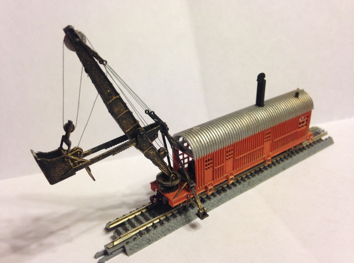 1914 Bucyrus Steam Shovel Z Scale 3d printed completed by southernnscale