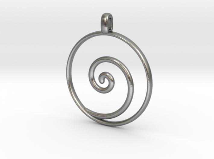 Koru maori symbol jewelry pendant papx86fss by symbolica koru maori symbol jewelry pendant 3d printed mozeypictures Images