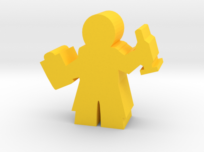 Doctor Meeple, with Clipboard and Needle 3d printed