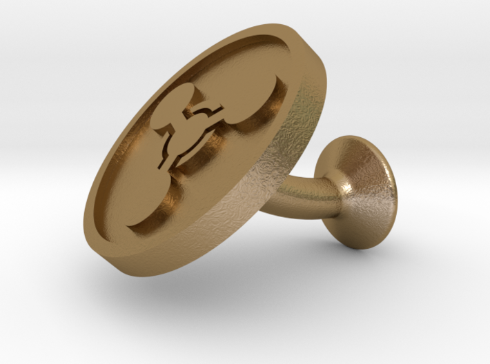 SINGLE Cufflink for CHEM - Chemical Hazard 3d printed