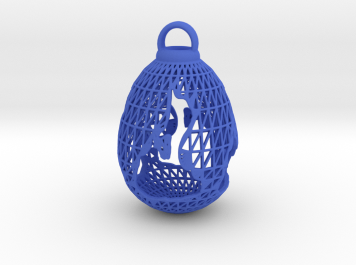 3D Printed Block Island Egg Ornament 3d printed