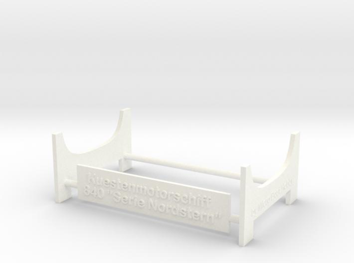 Coaster 840, Display Stand (1:200) 3d printed