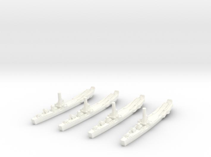 1/1250 IJN No.101 Landing Ship (X4) 3d printed