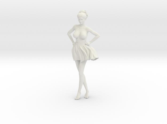Miniskirt Girl 007-1/10 3d printed