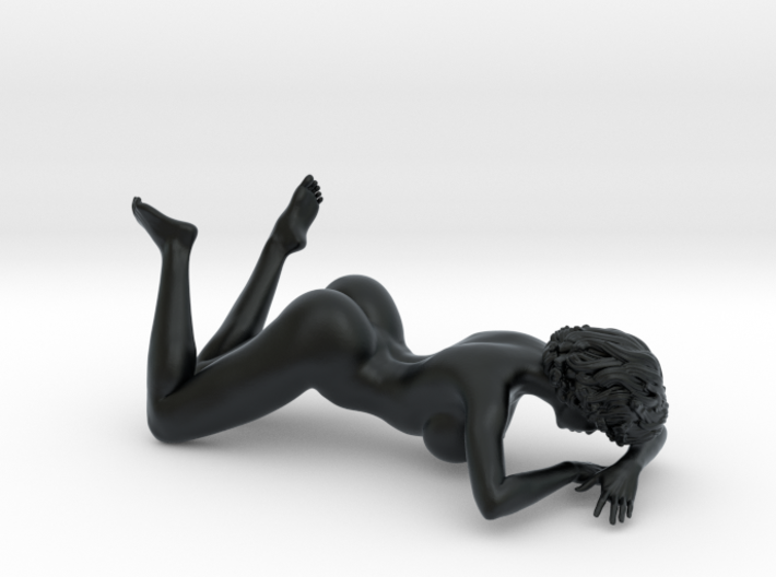 Girl with sofa 009 1/18 3d printed