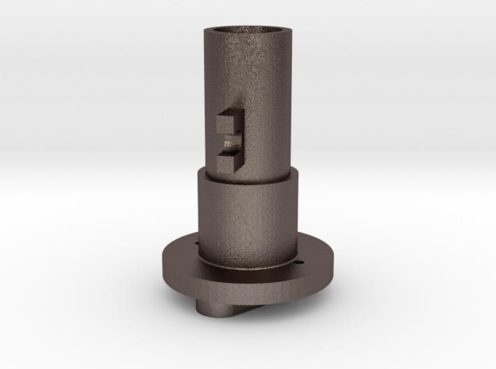Thrustmaster joystick tailpiece 15° offset - M 3d printed