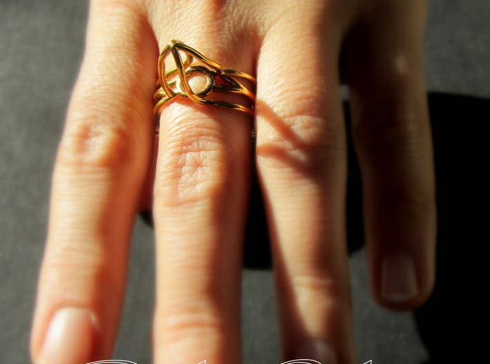 Ring The triangle/ size 10US (19.9 mm) 3d printed
