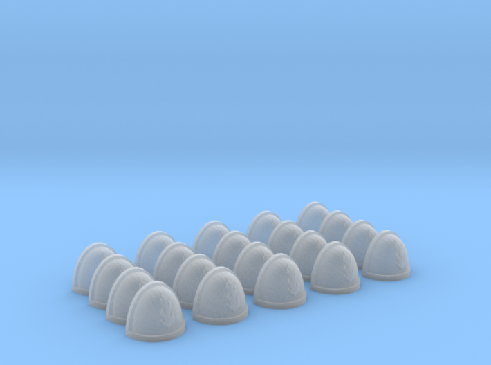20 Shoulder Pads Flame #2 3d printed