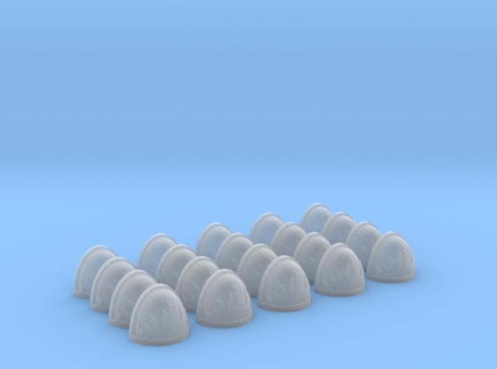 20 Shoulder Pads Flame #3 3d printed