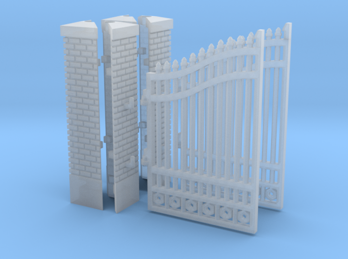 Gate post (N 1:160 - TT 1:120) 3d printed
