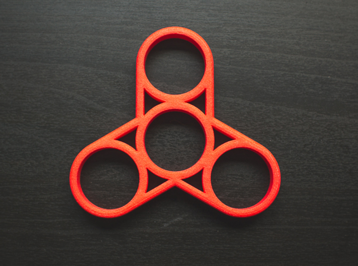 the triplex fidget spinner 3d printed