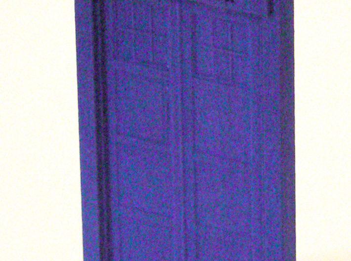 "Pendant Tardis 3.5"", Dr. Who 3d printed Early version sample in blue"