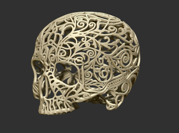 Skull Filagree -v2 Top - 5.2cm 3d printed