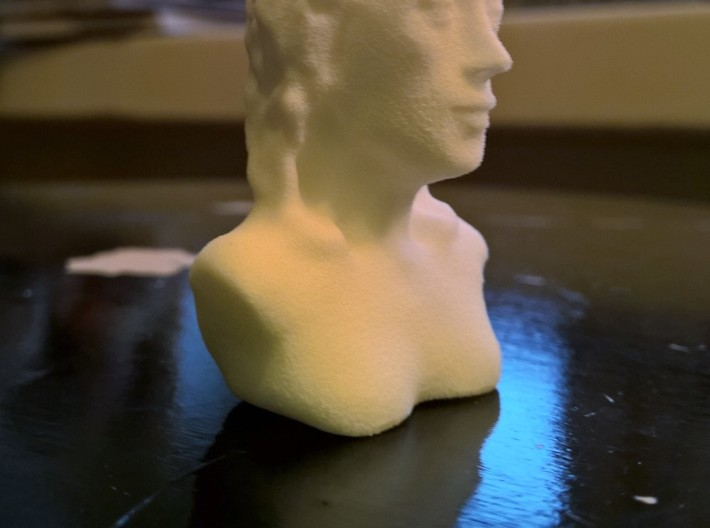 Woman 3d printed It looks a bit orange due to the lighting.