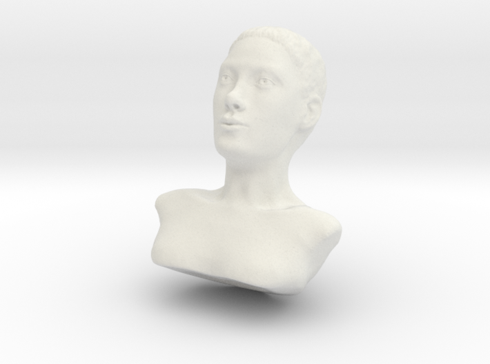 Woman with Very Short Hair 3d printed
