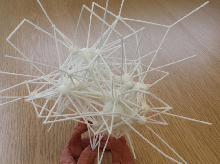 Virus mCMV Protein interaction network 3d printed Printed network in White Natural Versatile Plastic