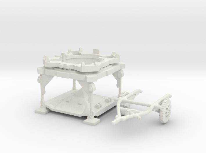 1:100 V2 Rocket Launch Platform and dolly 3d printed