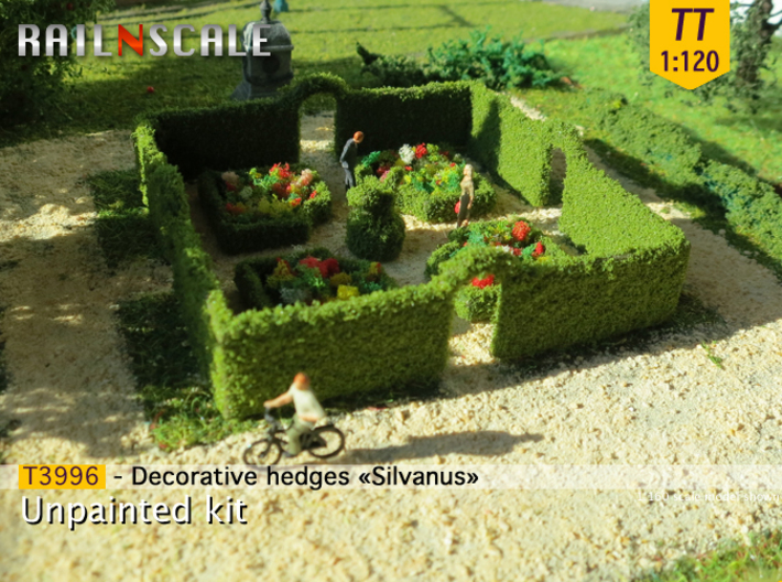 Decorative hedges Silvanus (TT 1:120) 3d printed