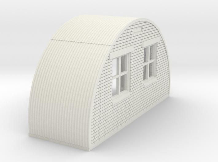 N-87-complete-nissen-hut-back-brick-16-36-1a 3d printed