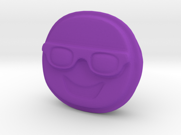 Happy EMOJI Face with Sunglasses Pendant Charm 3d printed