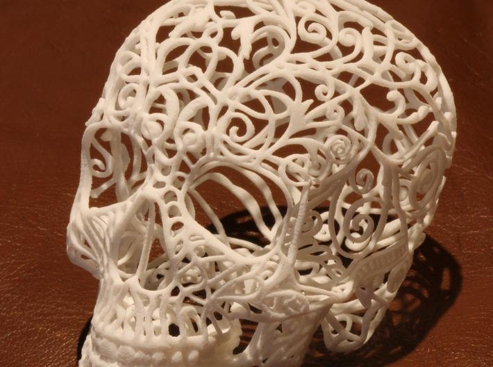 Skull Filagree 7.9cm v1 3d printed