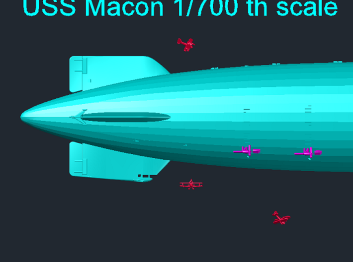 USS Macon 1/700th scale 3d printed