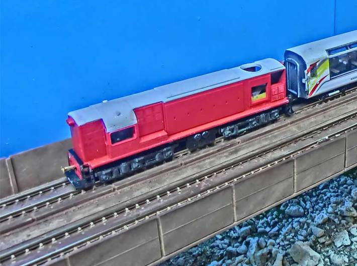 NZ120 Di Class 3d printed Printed in FUD, fitted to (GP30 Chassis frame with SD-45 Trucks)