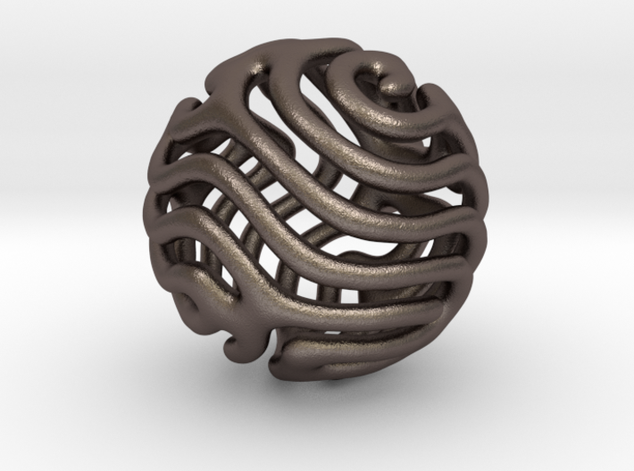 Reaction diffusion Pendant/Earring 3d printed