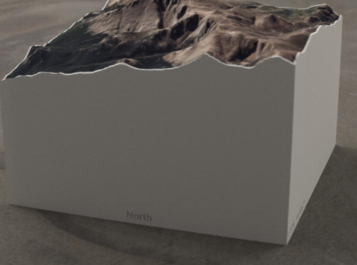 Pikes Peak, Colorado, USA, 1:50000 Explorer 3d printed