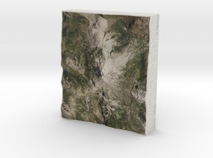 Lassen NP, California, USA, 1:100000 Explorer 3d printed