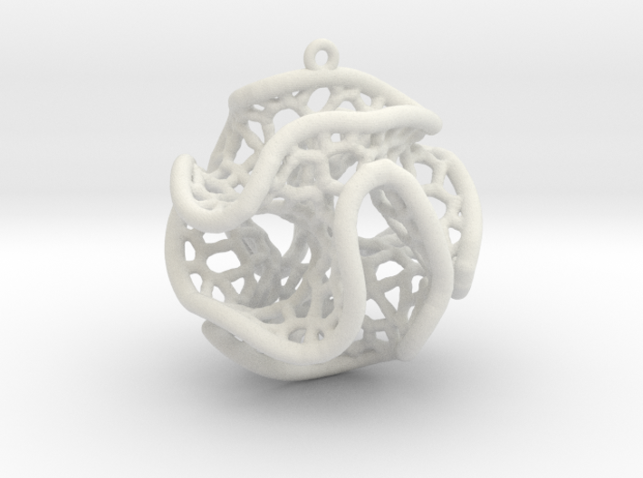 Minimal Surface Christmas Bauble 3d printed