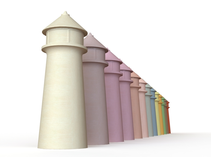 Lighthouse Pastel Violet 3d printed