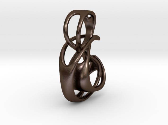 The Hug Pendant 3d printed