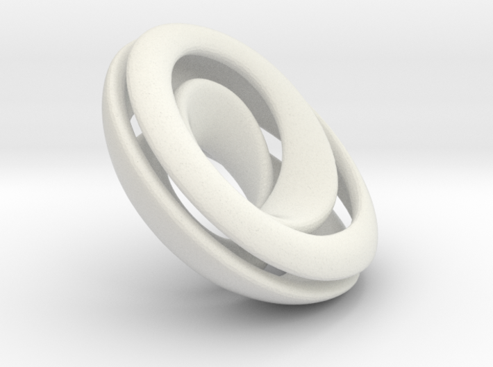Split Mobius band - 23 mm round 3d printed Stainless steel print