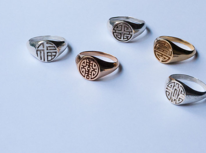 Wealth - Lady Signet Ring 3d printed Lady Signet Ring Collection