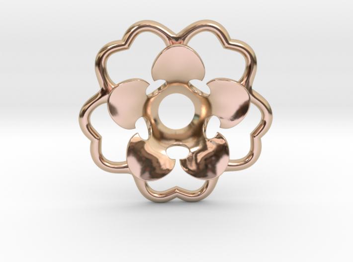 Rosette Collar Flower 3d printed 14k Rose Gold Plated