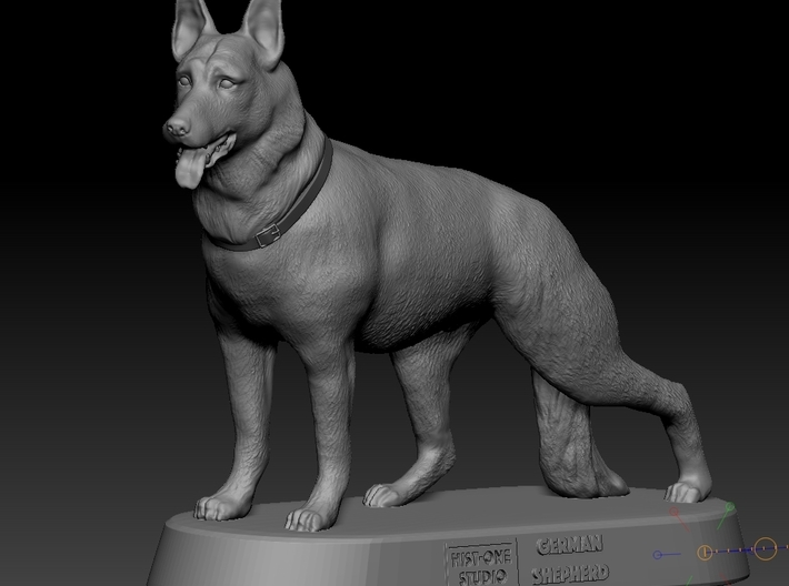 German Shepard (1/24 scale) 3d printed The base is not included