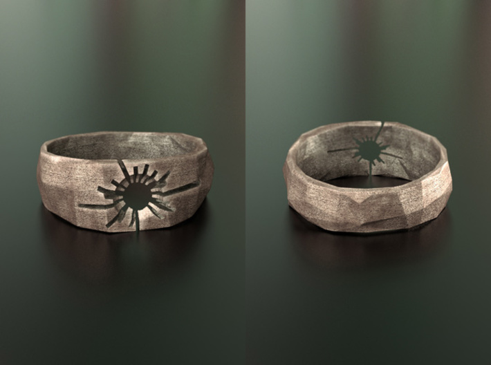 Neotokyo ring: size 12 (US) Y (UK) 3d printed