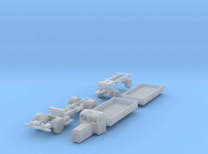 Henschel 6J2 Pritschen-Lastzug (1/144) 3d printed