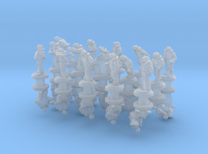 1-350 Merchant Navy Crew Set 2 3d printed
