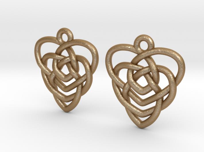 Celtic Motherhood Knot Earrings 3d printed